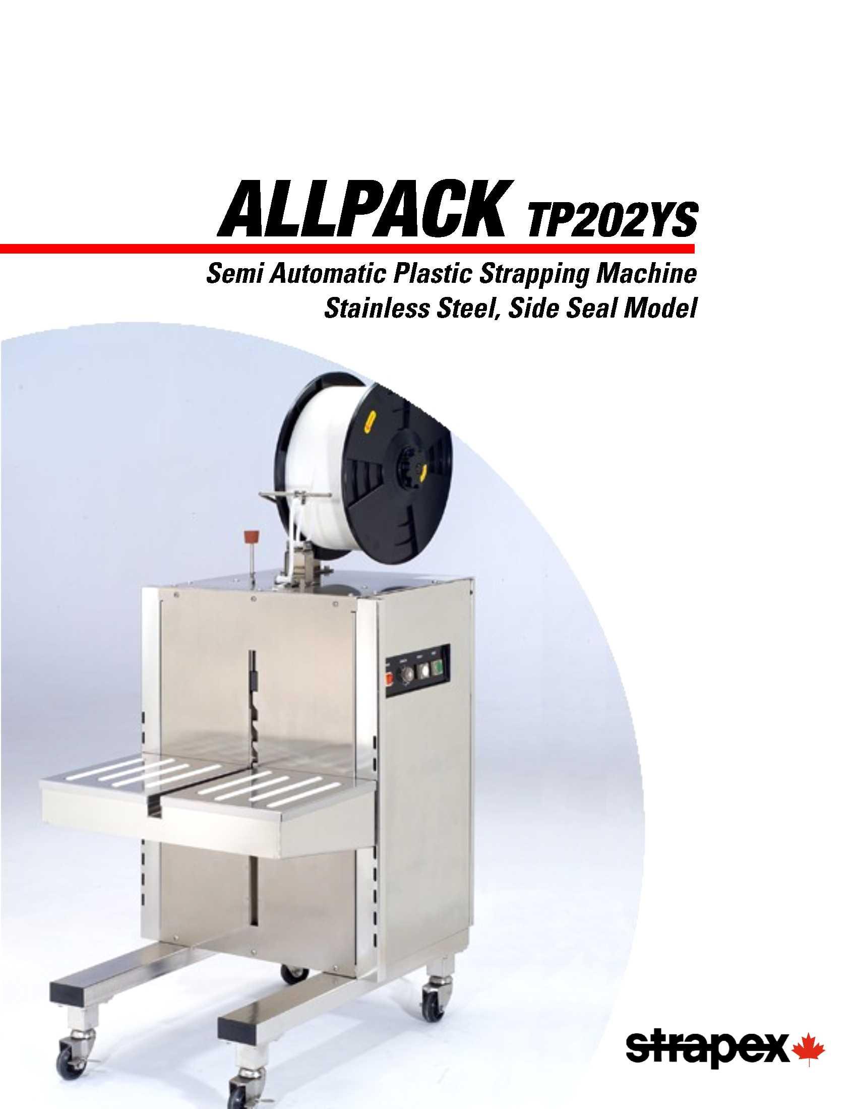 TP202YS Semi-automatic Plastic Strapping Machine   Signode Canada