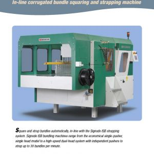 ISB In-line Corrugated Bundle Squaring and Strapping Machine