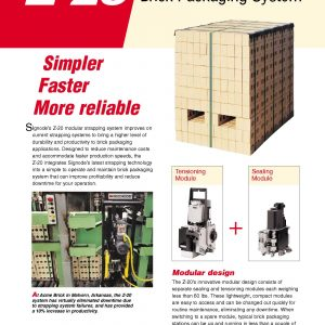 Z-20 Strapping System for Brick Packaging | Signode Canada
