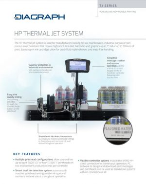 The HP Thermal Jet System for Low-maintenance, Industrial Printing