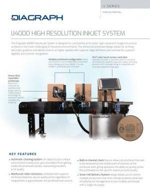 IJ4000 High Resolution Inkjet System for package coding | Signode.ca