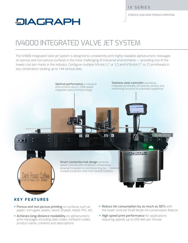 The IV4000 Integrated Valve Jet System for Printing | Signode Canada