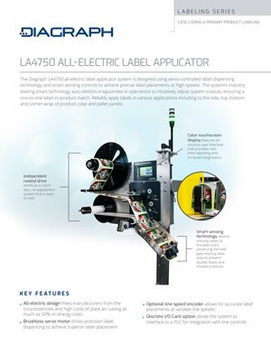 LA4750-ALS All-Electric Label Applicator | Signode Canada