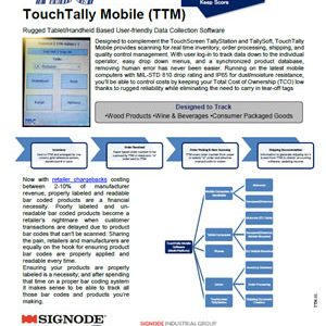 IBC TouchTally Mobile | Signode Canada