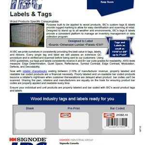 IBC Wood Products Labels & Tags | Signode Canada