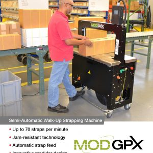 MOD-GPX 2000 Semi-automatic Walk-up Strapping Machine