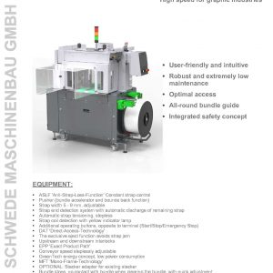 SMB CP300 High Speed Newspaper Bundling Machine