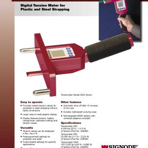 Digital Tension Meter for Plastic and Steel Strapping